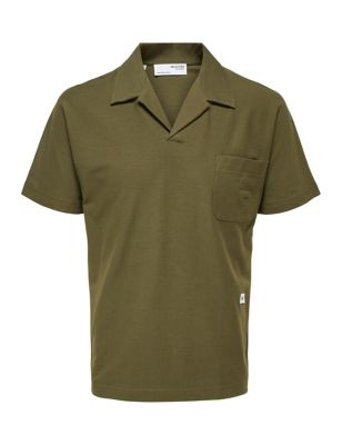 Organic Cotton Revere Polo Shirt