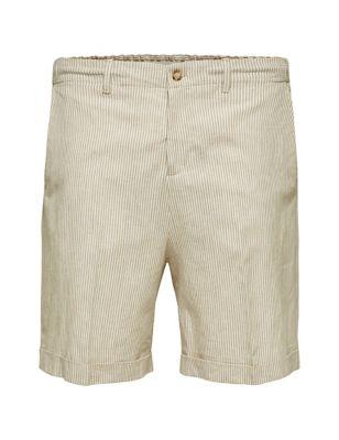 Organic Cotton Striped Chino Shorts