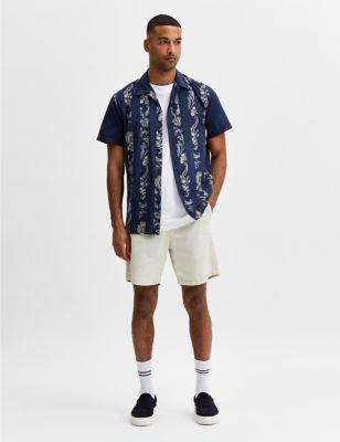 Cotton Floral Revere Shirt