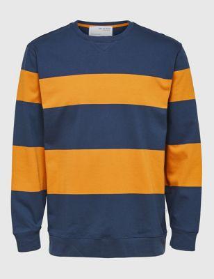 Organic Cotton Striped Sweatshirt
