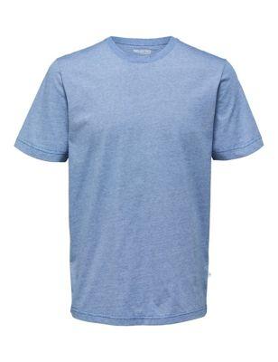 Organic Cotton Striped Crew Neck T-Shirt