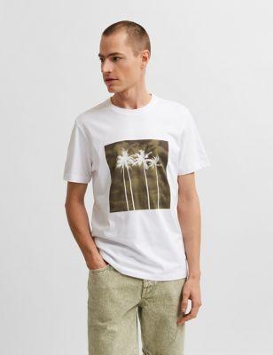 Organic Cotton Palm Tree Graphic T-Shirt