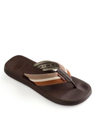 Woven Strap Flip Flops
