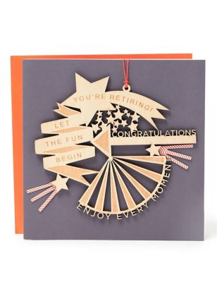 Keepsake Retirement Card - with Wooden Decoration