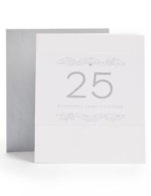 25th Anniversary Card