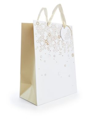 Large White & Gold Gift Bag