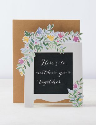Contemporary Wedding Anniversary Card with Concealed Message