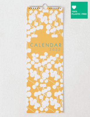 2022 Slimline Calendar - Contemporary Floral Design