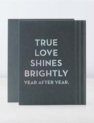 True Love Text Anniversary Card