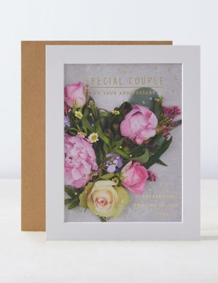 Special Couple Photographic Anniversary Card