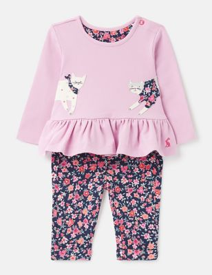 2pc Organic Cotton Cat Outfit (0-24 Mths)