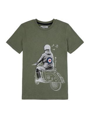 Pure Cotton Mod Print T-Shirt (7-15 Yrs)