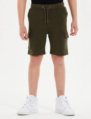 Cotton Logo Cargo Shorts (7-16 Yrs)