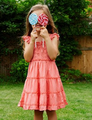 Broderie Tiered Dress