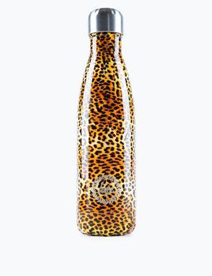 Kids' Aluminium Leopard Print Water Bottle (5+ Yrs)