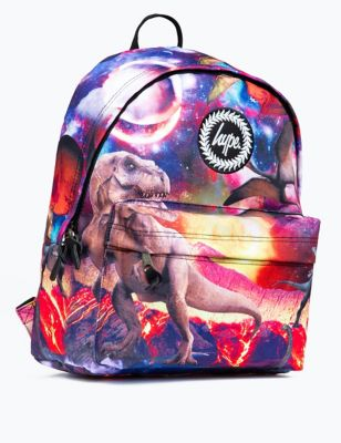 Kids' Space Dinosaur Print Backpack (5+ Yrs)