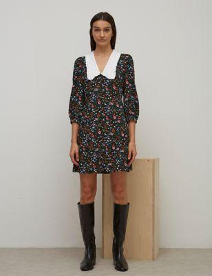 Collared Mini Tea Dress