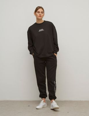Cotton Slouchy Boxy Sweatshirt