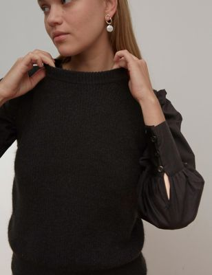 Knitted Crew Neck Sleeveless Jumpers
