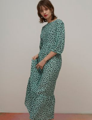 Floral Midaxi Smock Dress