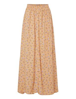 Floral Maxi Slip Skirt