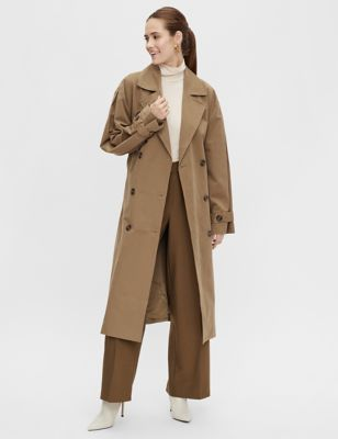Cotton Double Breasted Trench Coat