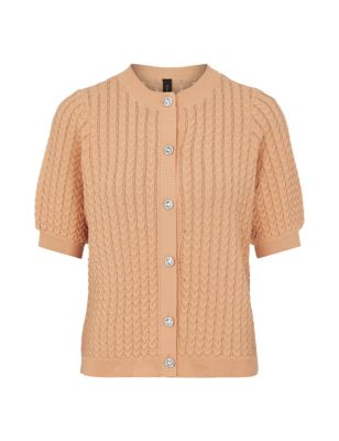 Knitted Button Front Cardigan