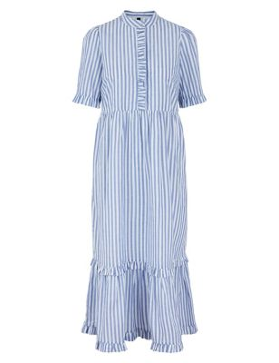 Organic Cotton Striped Maxi Smock Dress