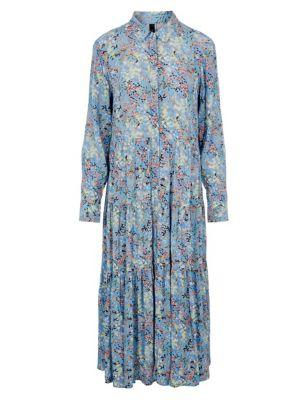 Floral Maxi Shirt Dress