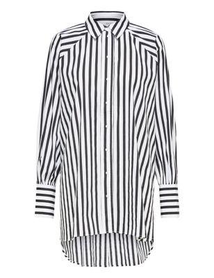 Organic Cotton Striped Long Sleeve Shirt