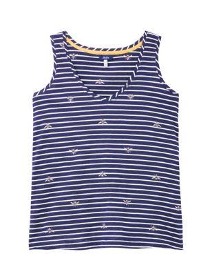 Pure Cotton Striped Vest Top