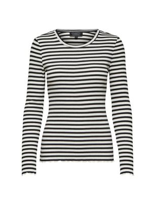 Organic Cotton Knitted Striped Top