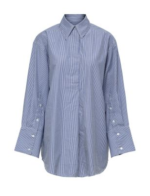 Organic Cotton Striped Relaxed Shirt
