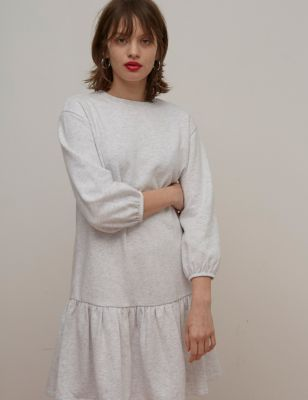 Cotton Mini Smock Dress