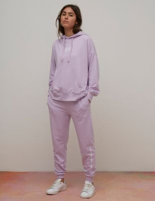 Cotton Embroidered Relaxed Longline Hoodie