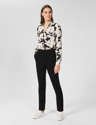 Floral Collared Long Sleeve Longline Shirt