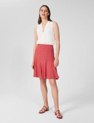 Polka Dot Mini Skater Skirt