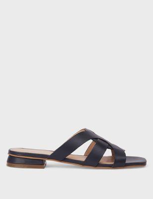 Leather Flat Sliders