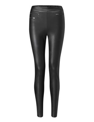 Leather Look High Waisted Leggings