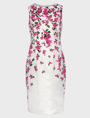 Cotton Floral Knee Length Shift Dress