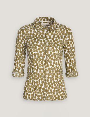 Pure Cotton Polka Dot Long Sleeve Shirt