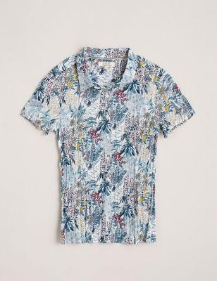 Organic Cotton Floral Short Sleeve Shirt