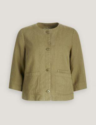 Pure Linen Utility Jacket