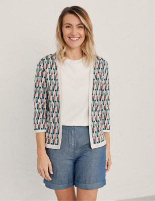 Pure Cotton Jacquard Cardigan