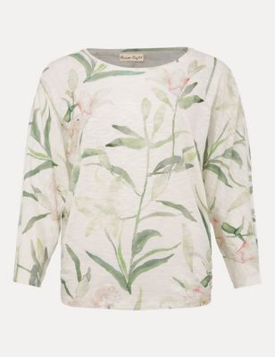 Pure Cotton Printed 3/4 Sleeve Top