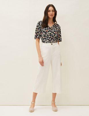 Pure Cotton Wide Leg Culottes