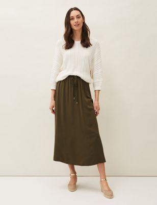 Maxi A-Line Skirt