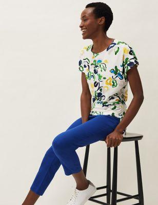Floral Round Neck Regular Fit T-Shirt