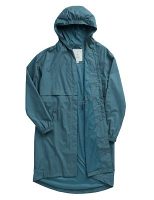 Longline Relaxed Utility Raincoat