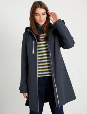 Cotton  Relaxed Longline Raincoat